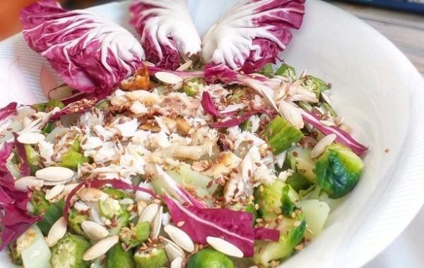 Salade de crudites au kalalou-gombo