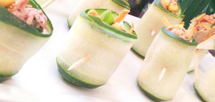 Roulades de concombre au thon